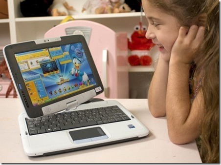 a kid with a laptop