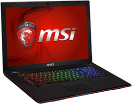 MSI GE70 gaming laptop in 2015