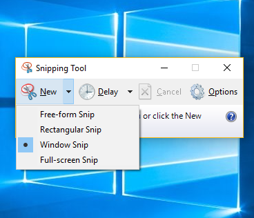 Snipping Tool In HP Windows 10