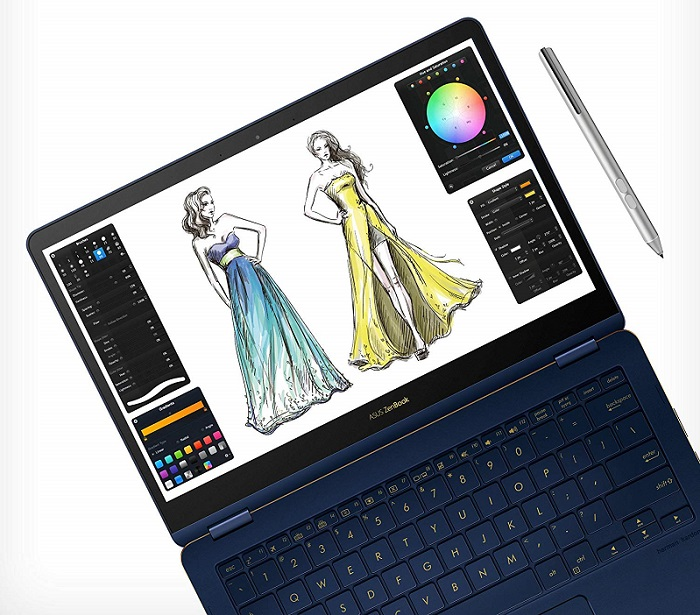 ASUS ZenBook Flip S Touchscreen Convertible Laptop For Photoshop
