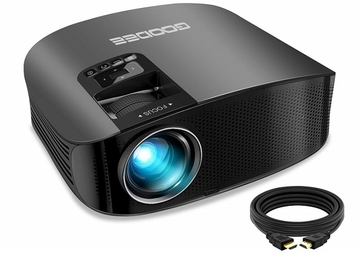 GooDee HD Video Projector 3800L Outdoor Movie Projector