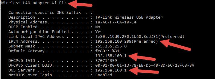 Changed Static IP