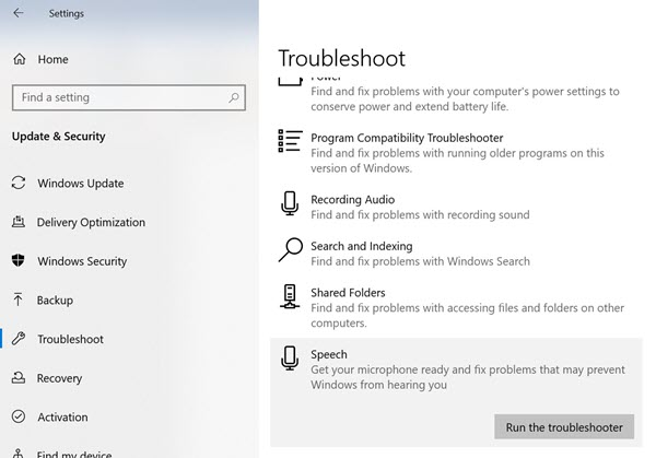 Windows 10 Troubleshooter