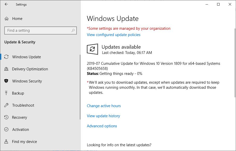 Running Windows Update